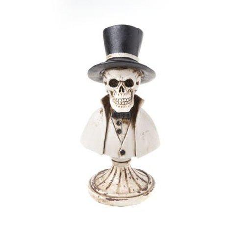 Cosy @ Home Doodskop Op Voet Zwart Polyresin 8x8xh18,3 Pipe Hat Cape