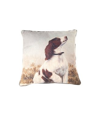 Cosy @ Home Cushion Beige Square 45x45xh0 With Dog Print