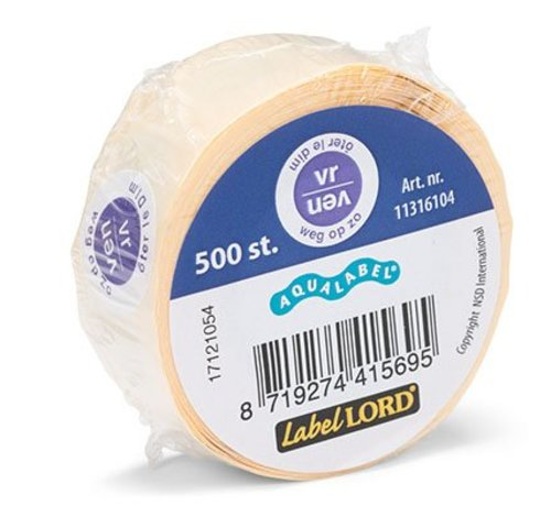 Labellord Aqualabel S500 Labels Biling Vr Weg Opzo- Oter Le Di- Blue