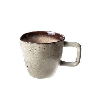 Cosy & Trendy Atilla - Koffiekopjes - Bruin - 23cl - D8.5xh8cm - (set van 6)