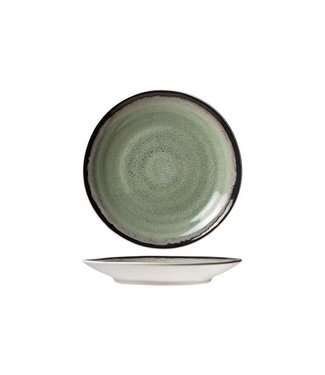 Cosy & Trendy Fez Green D15.5cm coffee saucer (set of 6)
