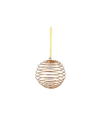Cosy @ Home Xmas Ball Copper Synthetic 0x0xh20,32 Glitter Spring