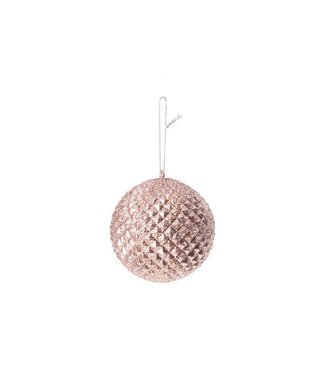 Cosy @ Home Xmas Ball Pink Synthetic 0x9xh9 Glitterpineapple Shape