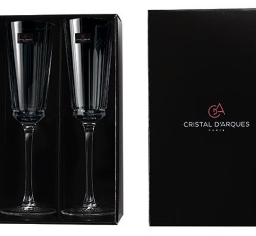 Cristal D'arques Macassar Fluut 17 Cl Set 2