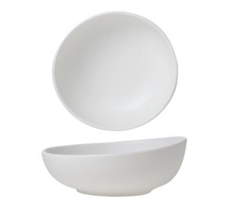 Mat White Bowl D14cm