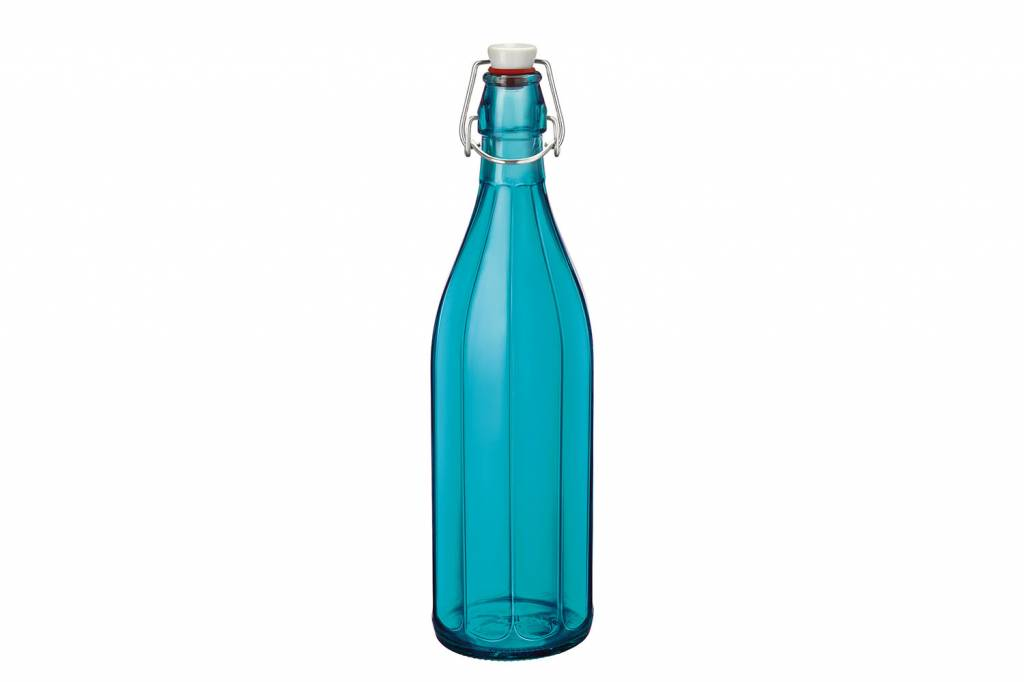 Bormioli Oxford Fles Azuurblauw 1 L