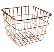 Cosy & Trendy Basket Copper Plated 20x20x16.5cm