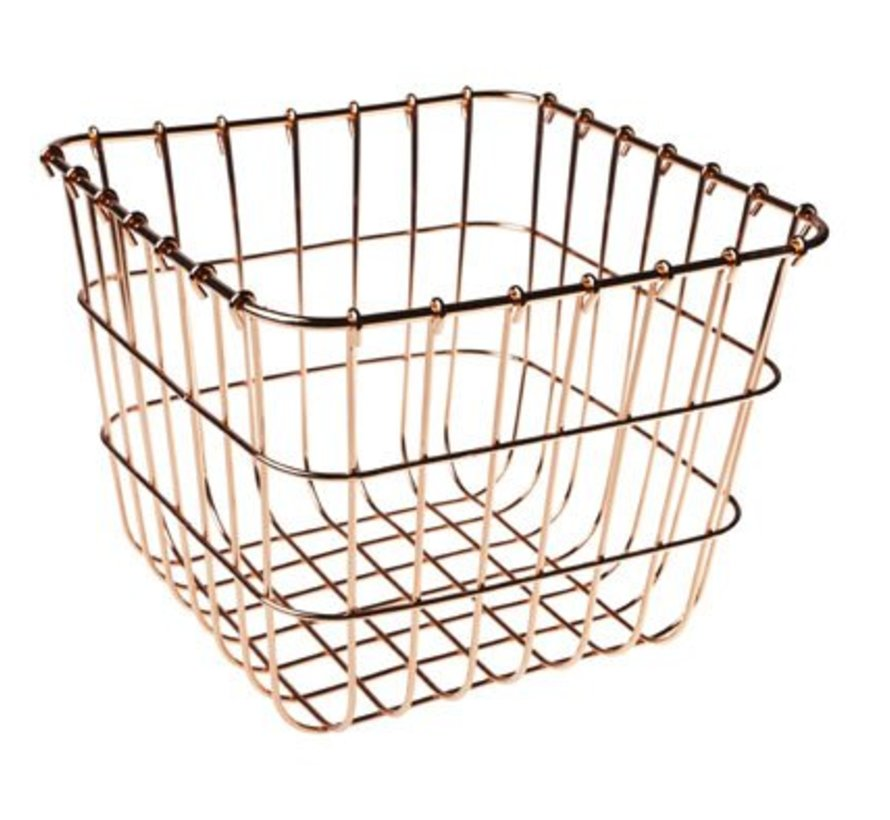 Basket Copper Plated 20x20x16.5cm