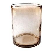 Cosy @ Home Windlicht Bruin Cilindrisch Glas 16x16xh20