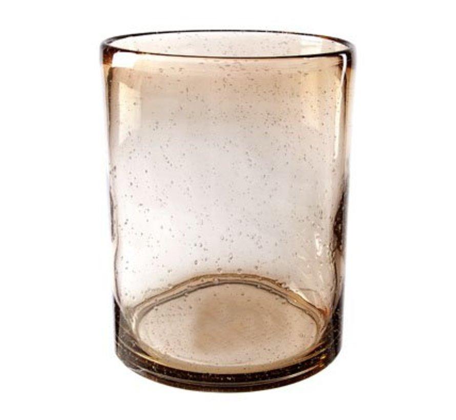 Windlicht Braun Zylindrisch Glas 16x16xh20