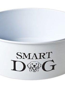 Cosy & Trendy Dogbowl White-printing D22xh7.cm''smart Dog''