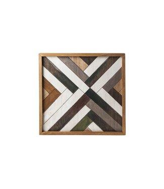 Cosy @ Home Tablett Natural Rechteck Holz 35,6x35,6xh3