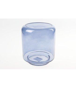 Cosy @ Home Windlicht Blauw Cilindrisch Glas 15x15xh22