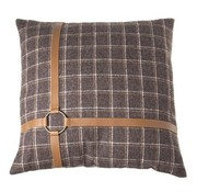 Cosy @ Home Kussen  Bruin Vierkant Textiel 45x45xh0checked