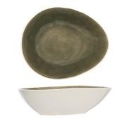 Cosy & Trendy Spirit Olive Schaal Ovaal 17x20.5cm