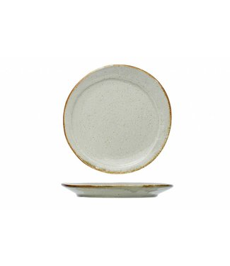 Cosy & Trendy Ivanora Green Dessert Plate in Pottery - D22cm  - Ceramic - (Set of 6)