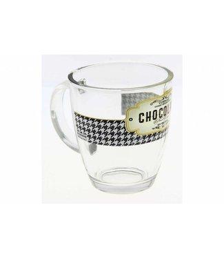 Cerve Retro Breakfast Mug In Glass 38cl (set of 6)