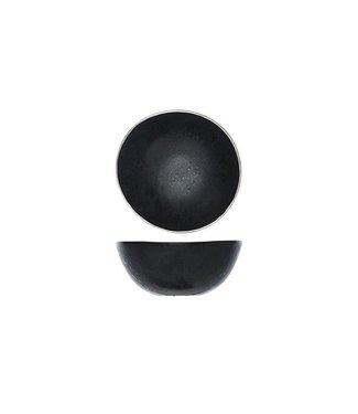 Cosy & Trendy Casino - Kommetje - D15cm - Zwart met Platinum - Keramiek - (Set van 6).