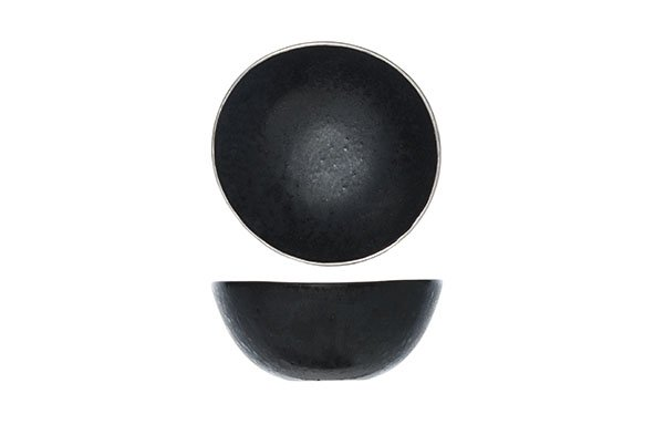 CT Casino Breakfast bowl Black D 15cm With Platinum set of 6