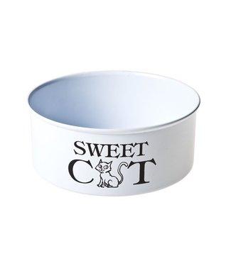 Cosy & Trendy Catbowl White-printing D15xh6cm