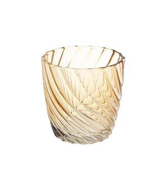 Cosy @ Home T-lighth Spiral Glass Orange 7.3x7.3x7.3