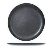 CT Set of 6 Casino Flat Dinner Plates Black 29.5cm