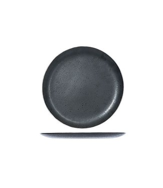 Cosy & Trendy Set of 6 Casino Flat Dinner Plates Black 29.5cm