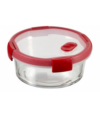 Curver Smart Glass Round Food Container 0.6ld16xh7cm (set of 4)