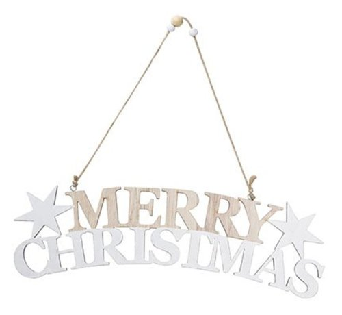 Cosy @ Home Merry Christmas Hanger  Holz 30x8xh1cm