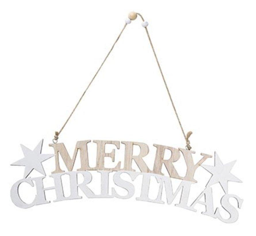 Merry Christmas Hanger  Holz 30x8xh1cm