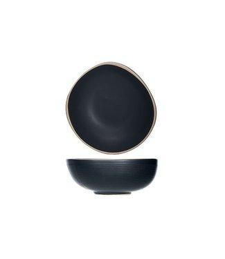Cosy & Trendy Galloway-Black - Schaaltje - D12xh4.7cm - Keramiek - (set van 12)