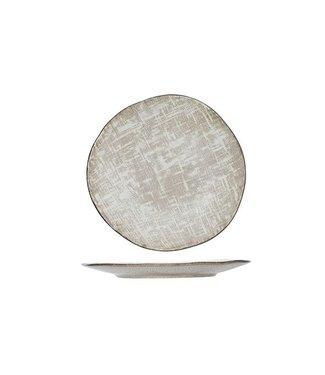 Cosy & Trendy Tattersall Dinerbord Beige in Aardewerk -  D 28.5 cm (set van 6)