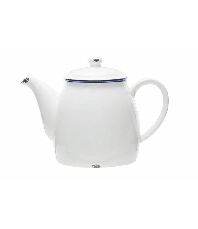 Cosy & Trendy Antoinette - Koffie/theepot - Wit - 1,3L - D13.5xh16.5cm - Keramiek