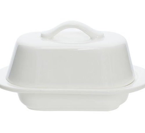Cosy & Trendy Butter Dish White Oval 12.7x7.5xh7cm