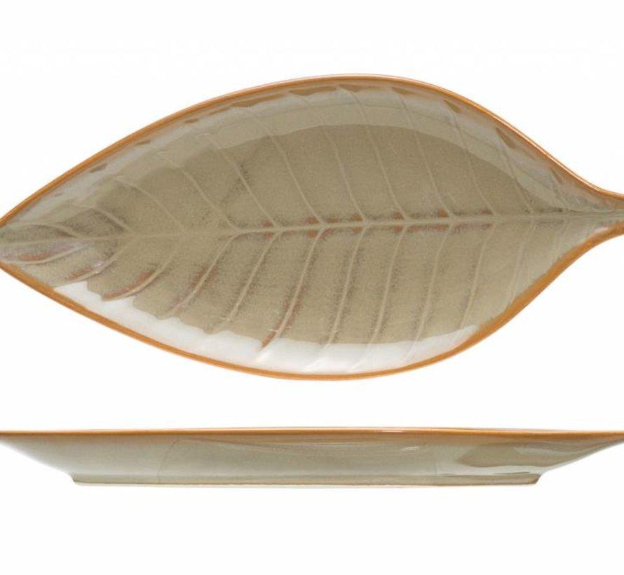 Limerick Apero-bord 23.5x10.8cm bladerenvorm ( set van 4 )