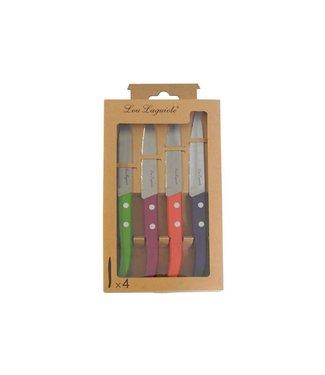 Lou Laguiole Forrest Set di 4 assortimenti di coltelli per pelare colore 22x13x2cm