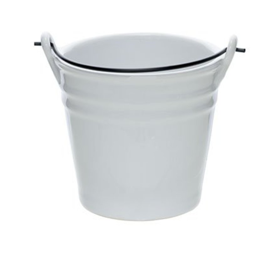 Bucket White Mini Emmer D10.3xh9.7cm