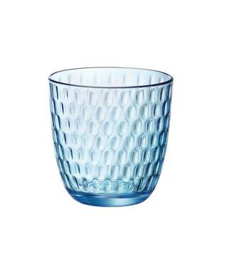 Bormioli Slot Glas Blauw 29cl (set van 12)