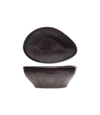 Cosy & Trendy For Professionals Black Granite - Schaaltje - Zwart - 12x9xh5cm - Porselein - (set van 6).