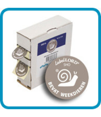 Labellord Allergenes Mollusc 25mm Set500 Labelsincl Box 8.6x3.3x8.9cm