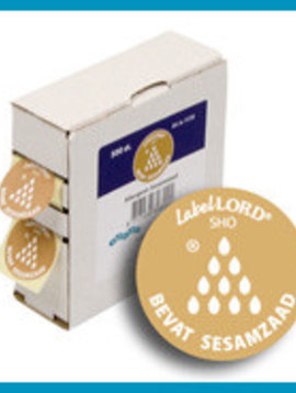 Labellord Allergenes Sesame Seed 25mm Set500 Labelincl Box - 8.6x3.3x8.9cm