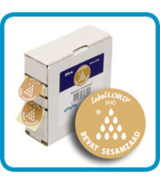 Labellord Allergenes Sesame Seed 25mm Set500 Labelincl. Box - 8.6x3.3x8.9cm