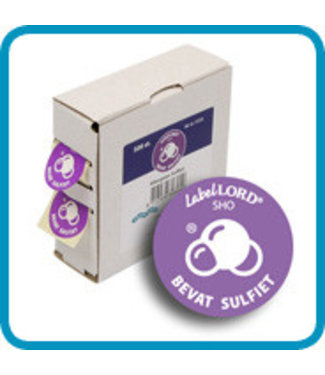 Labellord Allergenes Sulfur 25mm Set500 Labelsincl Box - 8.6x3.3x8.9cm