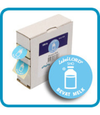 Labellord Allergenes Milk S500 Labels Incl Box8.6x3.3x8.9cm