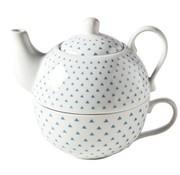 CT Teapot With Bag D10xh12cm Blue Triangle - teapot: 25cl - cup: 20cl