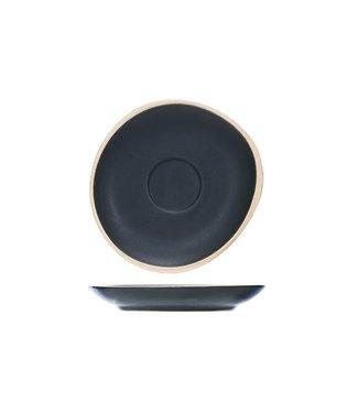 Cosy & Trendy Galloway - Schwarz - Espresso Untertasse - D12cm - (6er Set)