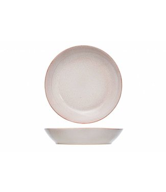 Cosy & Trendy Eleonora - Pink - Deep Plate - D22cm - Ceramic - (set of 6)