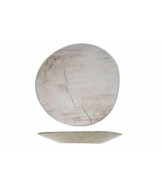 Cosy & Trendy Lithos Wave - Dinner plate - Ceramic - 34x33.5xh3.5cm - (set of 6)
