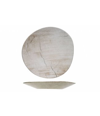 Cosy & Trendy Lithos Wave - Teller - Keramik - 34x33,5xh3,5cm - (6er-Set)