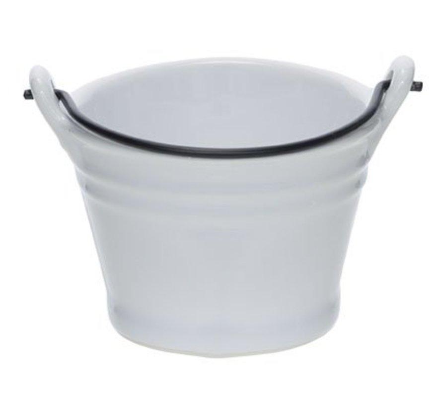 Bucket White Mini Emmer D7.8xh5.5cm